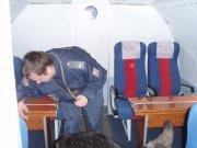 Prostor pro cestujici ve vrtulniku