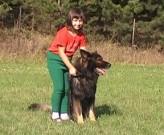 Malá cvičitelka Šárka a Jassan z Dvořákova sadu